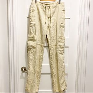 ATHLETA 100% Linen Pants in 12 Tall